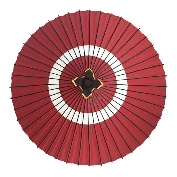 舞踊用蛇の目傘 蛇の目柄 赤