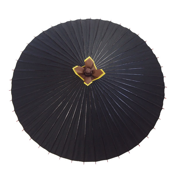 舞踊用蛇の目傘 無地 黒