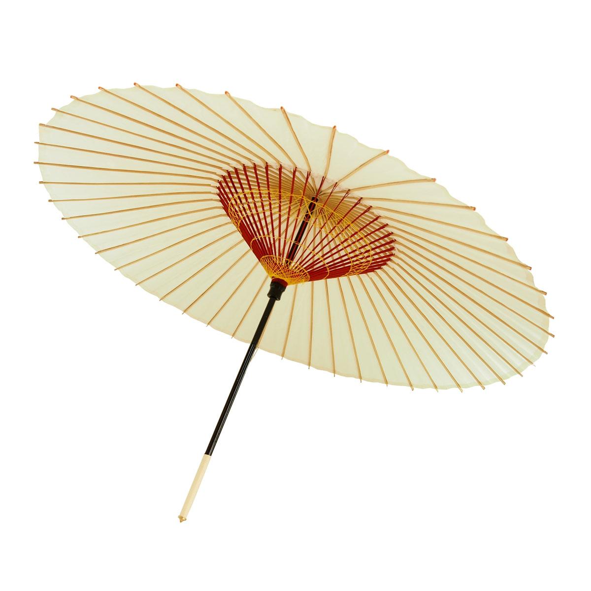 舞踊用蛇の目傘 無地 白
